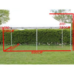 Faltzelt 3x6 Pavillon mieten